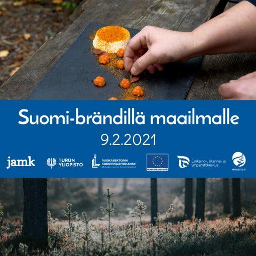 Suomi-brändillä maailmalle -tapahtuman kuvitusbanneri